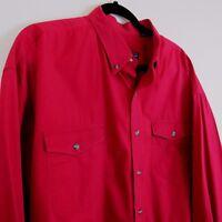 Roper Western Long Sleeve Button Front Shirt Men's Size 2XL 2XLarge