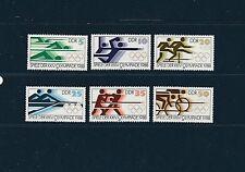 Allemagne Orientale DDR  jeux olympiques de Séoul  1988 num: 2796/2801 **
