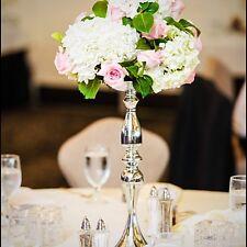 wedding centerpiece vases in color silver .