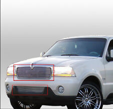 03 04 05 LINCOLN AVIATOR FRONT UPPER+BUMPER BILLET GRILLE GRILL INSERT COMBO NEW