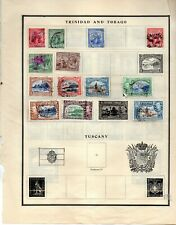 Trinidad and tobago 13 stamps from an old scott album used