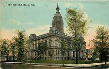Missouri, MO, Sedalia, Court House 1910's Postcard