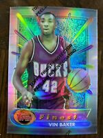 VIN BAKER 1994-95 FINEST REFRACTOR #66 *MILWAUKEE BUCKS*