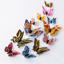 12Pcs 3D Butterfly Glow in The Dark Decal Wall Magnetic Sticker Home Decor Candy