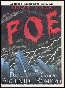 EDGAR ALLAN POE__TWO EVIL EYES__Orig. 1989 Trade AD_poster__DARIO ARGENTO_Romero