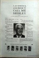 LESLIE NIELSEN AIRPLANE 1992 UK Film Press ADVERT 16x12inches
