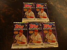 2012 Topps Baseball---Series 1---Hobby Packs---Lot Of 5---10 Cards/Pack