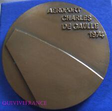 MED8415 - MEDAILLE AEROPORT CHARLES DE GAULLE 1974 par EMILE GILIOSI