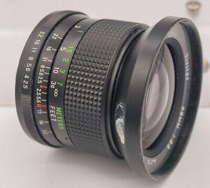 Vivitar 28mm F2.5 Pentax K Mount Prime Lens For SLR & Mirrorless Cameras