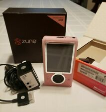 Zune 30 GB Pink limited Edition - bundled w OME charger & a carcharger/tape port