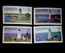 Canada Lighthouses Stamps 1032 1033 1034 & 1035! Complete Set! Mint MVLHR