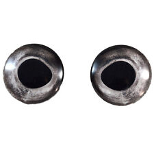 Pair of 30mm Silver Fish Glass Eyes for Taxidermy, Jewelry, or Doll Making