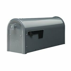 Gibraltar Mailboxes Edson Medium Capacity Galvanized Steel Gray Post-Mount Ma...