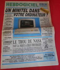 Magazine Hebdogiciel [n°158 24 Oct 86] NO TILT Oric MSX Apple II Commodore *JRF*