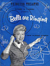 "Shani Wallis ""BELLS ARE RINGING"" Bruce Trent / Jule Styne 1958 Australia Program"