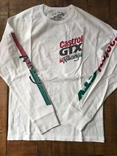 NWT Men's Lucky Brand Castrol GTX Racing  Long Sleeve Tee 100% Cotton, S White