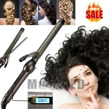 65W LCD Curlers Conical Curling Iron Single Tube Ceramic Glaze Pear Curly Hair