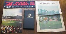 4 Golf Items: 1969 Avco Golf Classic Paper, 1970 Avco Classic Sticker, etc.