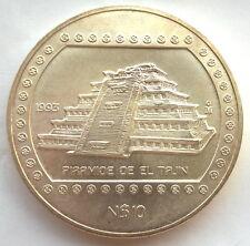Mexico 1993 Piramide De Le Tajin 10 Pesos 5oz Silver Coin,UNC