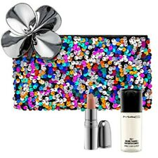 New,MAC 3/Set:Full size NIB At Leisure+Mini Setting Spray(Random)+Makeup Bag