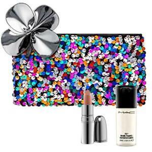 New,MAC 3/Set:Full size NIB At Leisure+Mini Setting Spray(Random)+Makeup Bag