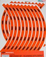 KTM  78009099000 STICKERS SET ADESIVI CERCHI SX EXC  18 - 21 19 -  21