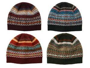 Men's Fairisle Lochinver Lambswool Beanie Hat - Multiple Colours - British Made