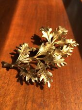 Vintage Women's Golden Fall Leaf Necklace Pin Broach