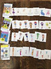 1992 Paper Dolls Uncut, Color, Cheerleader, Bride, Athlete, Beach Swimmer