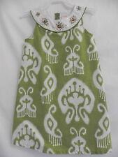 Pre-owned Girls Gymboree Sleeveless Green Dress w/ Gem collar 4T