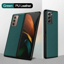 For Samsung Galaxy Z Fold 2 5G Luxury Carbon Fiber Folding Case Cover W/ Stand