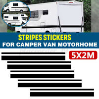 10M Side Body Sticker Long Stripes Graphics Decal Camper Van Motorhome Horsebox
