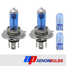 H4 60/55w White Xenon Headlight Bulbs Fits Ford Fiesta MK4 1.25i 16V