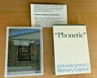 "Vintage Craig Pocket Translator Memory Capsule Cartridge - ""Phonetic"" M550"
