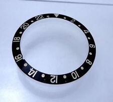 Rolex Watch Bezel Insert GMT Master 2 Black & Gold Stainless 16713 16718 Part
