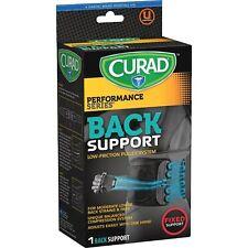 Medline Lower Back Support Curad Lightweight Black CUR22700D