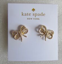 Kate Spade Bow Meets Girl Pave Studs O0ru2633 Gold-tone