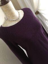 GORGEOUS MONSOON SIZE M 12/14/16 RICH PURPLE ANGORA MIX KNITTED JUMPER DRESS
