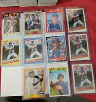 1986 Topps Gary Carter New York Mets #170 PLUS 11 CARD LOT