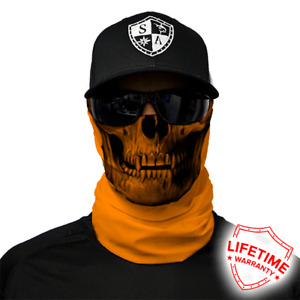 SA Salt Armour Tactical Orange Skull Face Shield. Buy 2 Get 1 Free!!