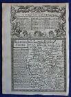 BEDFORDSHIRE, original antique map from 'Britannia Depicta', E. Bowen, 1759