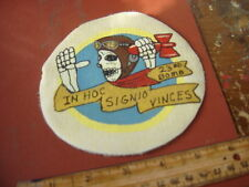 WWII USAAF SKELETON THROWING BOMB 23 RD BOMB SQUAD  FLIGHT JACKET  PATCH