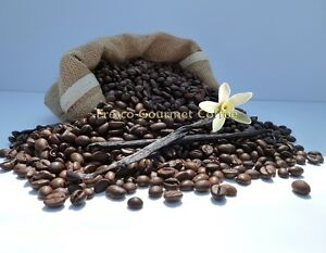 French Vanilla Flavour Decaffeinated Coffee Beans 100% Arabica BeanGround Coffee