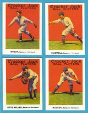 1915 Cracker Jack Reprint Team Sets: Brooklyn Dodgers/Nationals (Wheat)