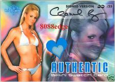 2006 BENCHWARMER SWATCH AUTO: CHANEL RYAN #22/25 WORN BIKINI AUTOGRAPH