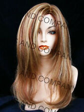 New Long Silky Straight Strawberry Candy Blonde & Auburn Wig JSSM RS29