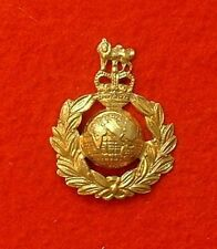 METAL MARINES CAP BADGE ROYAL MARINE BADGE ER II