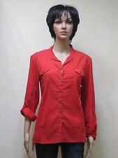 Timezone Damen Bluse in LAVA Red  Neuware in Größe XL