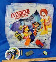 M Squad Ronald Hamburglar 1992 McDonald's Happy Meal Store Display Toys Set VTG