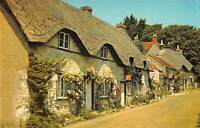 uk7721 old thatched cottages at Brighstone isle of wight  uk